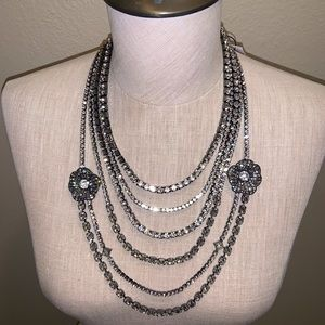 NWT WHBM MULTISTRAND ROSE STATEMENT NECKLACE